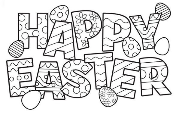 Free Printable Easter Coloring Pages are fun for all ages! Easter ... | 382x586