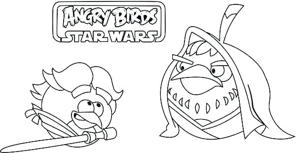 Angry Bird Pigs Star Wars Characters Coloring Pages : Bulk Color | 310x600